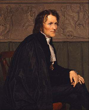 Bertel Thorvaldsen - A portrait of Thorvaldsen, by Christoffer Wilhelm Eckersberg