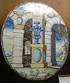 C.sf., pavia, sirio antonio africa (attr.), piastre ellittiche ad architettura, 1675-1710 circa 03.JPG