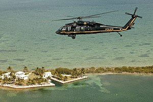 Black helicopter - The US Customs and Border Protection organization uses black UH-60 Sikorsky helicopters
