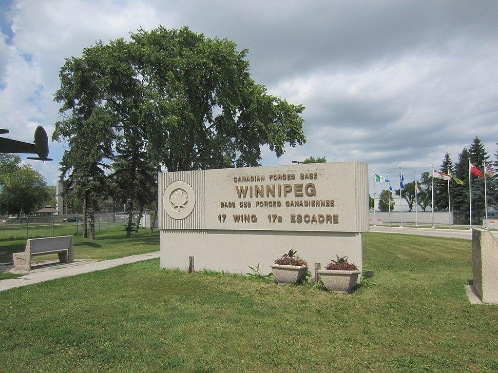 CFB Winnipeg 17 Wing sign