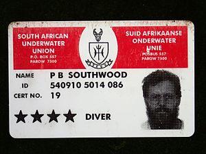 Confédération Mondiale des Activités Subaquatiques - CMAS 4-star Diver certification card