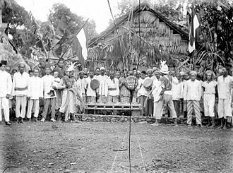 Ambonese - A group portrait of Ambonese people with musical instruments.
