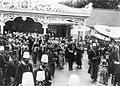 COLLECTIE TROPENMUSEUM Het veertig-jarig regeringsjubileum van Soesoehoenan Pakoe Boewono X van Surakarta hier gearmd met de gouverneur van Surakarta J.J. van Helsdingen TMnr 10001561.jpg