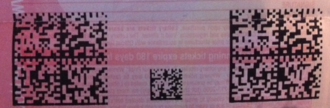 Connecticut Lottery - The two large data matrix barcodes on this ticket are used to activate the Replay feature on Connecticut Lottery terminals.
