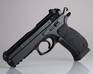 CZ 75 - CZ-75 SP-01 with extended-capacity magazine
