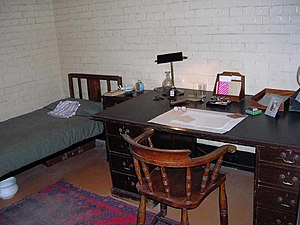 Churchill War Rooms - The Cabinet War Rooms office-bedroom of Brendan Bracken, Churchill's Minister of Information.