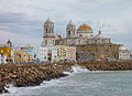 Cadiz Quay and Cathedral.jpg