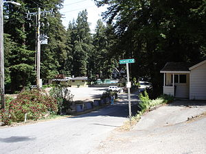 Rio Nido, California - Village Square, Rio Nido, May 2008