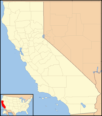 Bishop, California - Image: California Locator Map with US