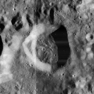 Calippus (crater) - Mosaic of Lunar Orbiter 4 images