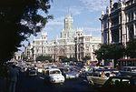 Calle de Alcalá, szemben a Palacio de Comunicaciones (ma Palacio de Cibeles). Fortepan 100601.jpg