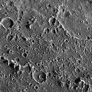 Asgard (crater) - Textured Terrain in Callisto's Asgard Basin.