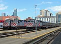 Caltrain locomotives at 4th and King station, April 2018.JPG