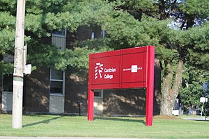 Cambrian College - The sign and building for Cambrian College in Espanola