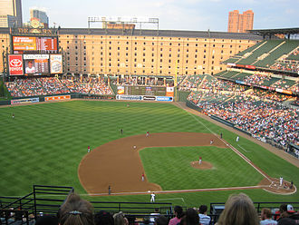 1999 Baltimore Orioles – Cuban national baseball team exhibition series - The second game of the series took place at Oriole Park at Camden Yards in Baltimore on May 3, 1999. This photo depicts the stadium in 2008.