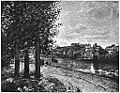 Camille Pissarro Flusslandschaft bei Pontoise (aus Kunst und Künstler 1904).jpg