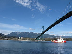 CCGS Vector - Image: Canadian Coast Guard Ship Entering Vancouver's Harbour