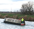 Canal boat travelling upstream on the River Great Ouse - geograph.org.uk - 1618587.jpg