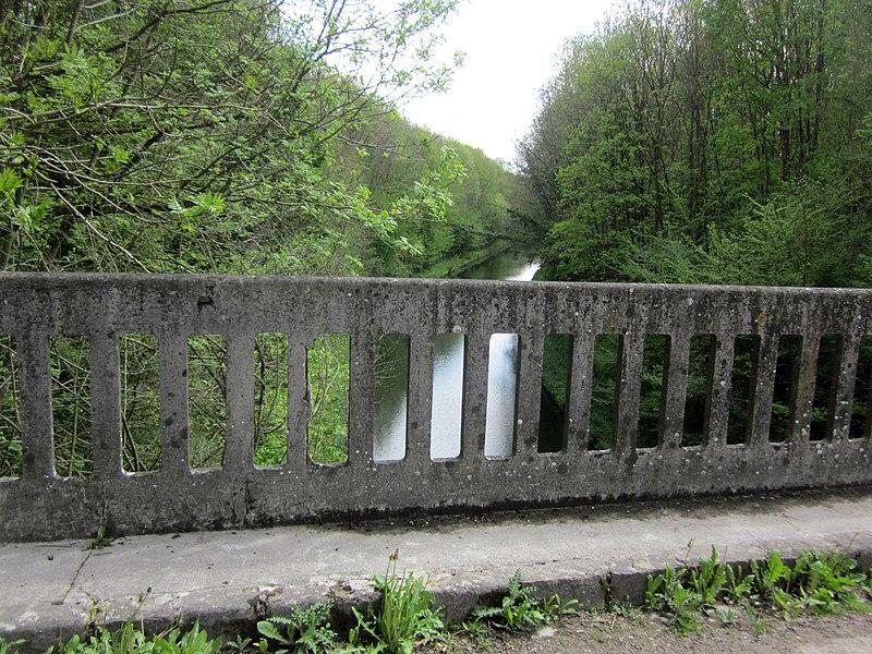 Canal de Saint-Quentin, seen from Riqueval Bridge (Pont de Riqueval)