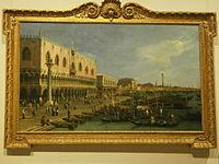 Canaletto - Il Molo verso la Riva degli Schiavoni con la colonna di San Marco - ante 1742 - Pinacoteca del Castello Sforzesco di Milano.JPG