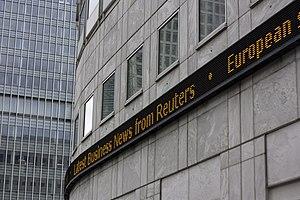 English: Canary Wharf stock ticker