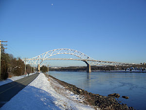 Bourne, Massachusetts - The Bourne Bridge over the Cape Cod Canal