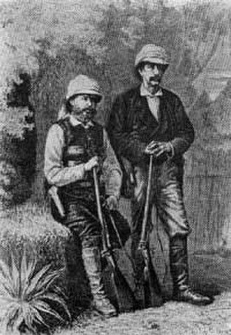 Hermenegildo Capelo - Hermenegildo Capelo (left) with Roberto Ivens in Iaca.