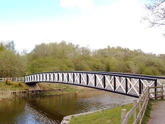 Northwich Woodlands - Carden's Ferry Bridge over Witton Brook, connecting Anderton Nature Park to Carey Park.