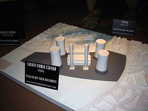 Boom Town (Doctor Who) - The plans for the new nuclear power plant, on display at a Doctor Who exhibition.