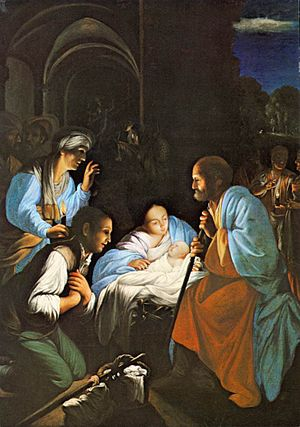 Carlo Saraceni - The Birth of Christ - WGA20827