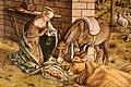 Carlo crivelli, madonna della rondine, post 1490, da s. francesco a matelica, predella 06 adorazione del bambino 2.jpg