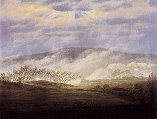 Brouillard dans la vallée de l'Elbe
