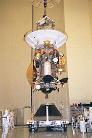 Cassini-Huygens is installed to the payload adapter