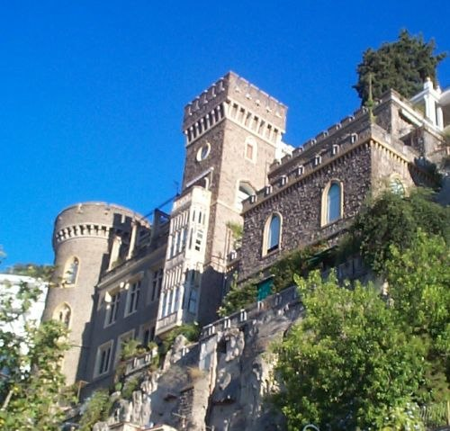 Castello Aselmeyer, a private palace built by the architect Lamont Young in the Neo-Gothic style