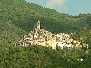 Castellvittorio viewed from Pigna, July 2006.JPG