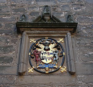 Cawdor Castle - Arms Sir Hugh Campbell and his wife Lady Henrietta Stewart, on a panel dated 1672