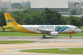 Cebu Pacific - Image: Cebu Pacific Air Airbus A320 Tang 1