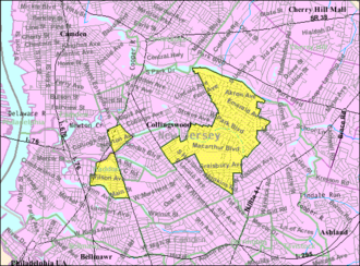 Haddon Township, New Jersey - Image: Census Bureau map of Haddon Township, New Jersey