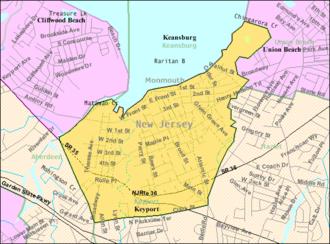 Keyport, New Jersey - Image: Census Bureau map of Keyport, New Jersey