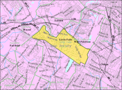 Census Bureau map of Little Falls, New Jersey