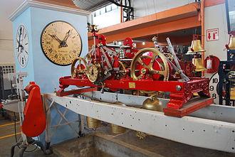 Sierra Norte de Puebla - View inside the Relojes Centenario clock factory