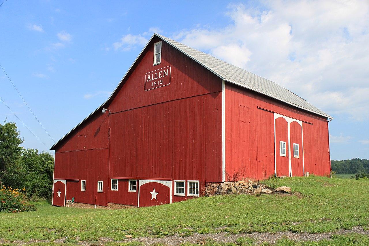 File Centennial Barn Allen Farm Clinton Michigan Jpg