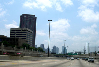 Central Expressway (Dallas) - Central Expressway at Haskell Avenue