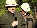 Central Oregon District Forester George Ponte (left) of the Oregon Department of Forestry (ODF) speaking during a Legislative Tour, Deschutes National Forest.jpg