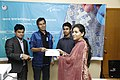 Certificate given in Bangla Wikipedia Editors' Assembly at CIU (05).jpg