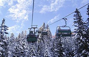Chairlift - A chairlift in Bad Hofgastein, Austria