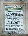 Champagnac-de-Belair cimetière plaque.JPG