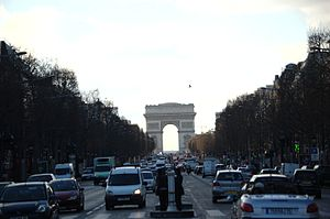 Champs Elysees Paris Arc de Triomphe