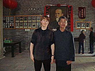 Choy Li Fut - Chan Sun-Chiu of the King Mui branch on the right with Niel Willcott.