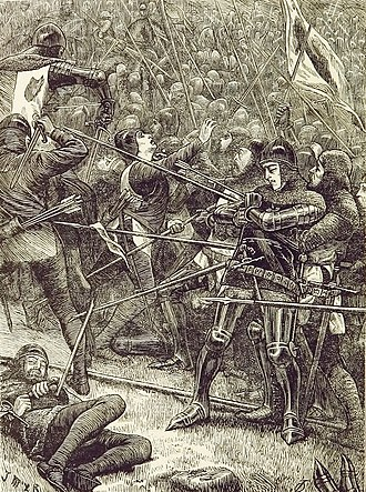 Battle of Halidon Hill - The Scots charge the English ranks